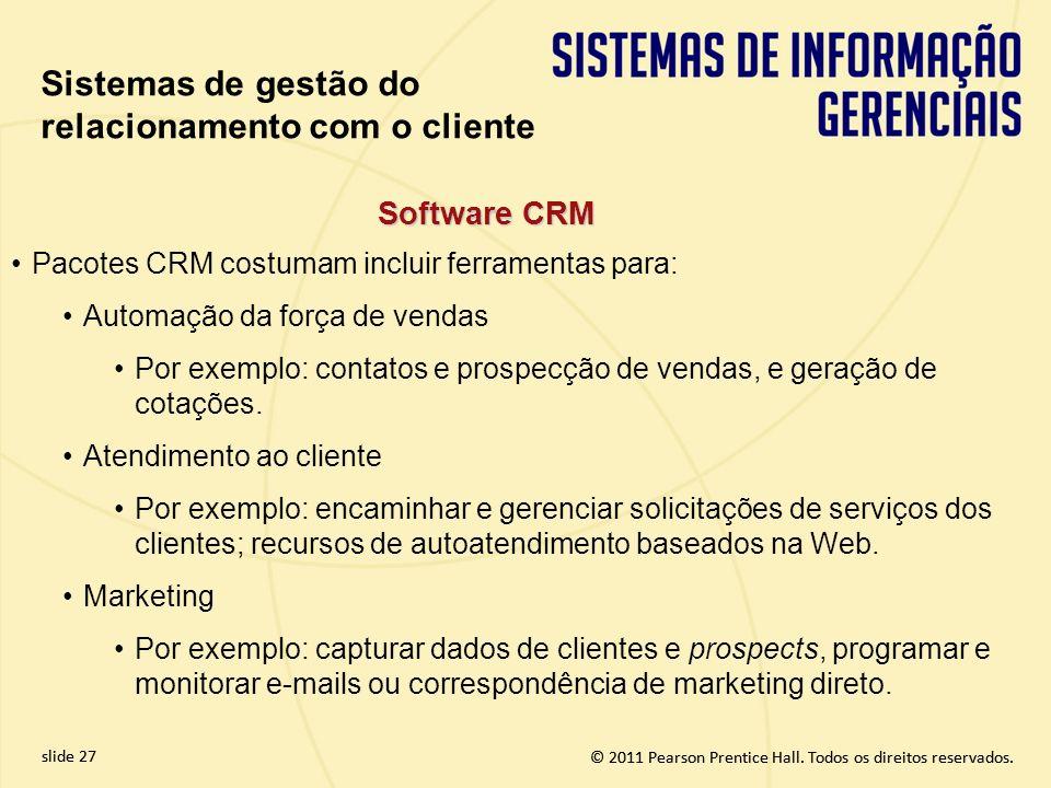 Sistemas de gestão do relacionamento com o cliente