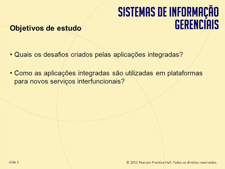 Objetivos de estudo Quais os desafios criados pelas aplicações integradas