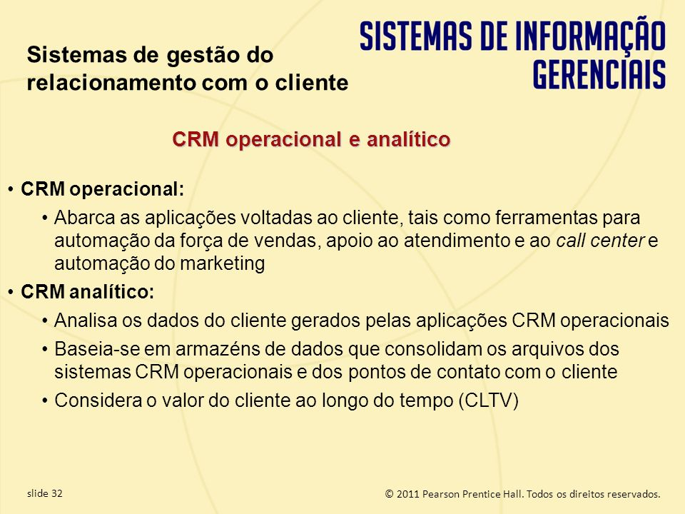 CRM operacional e analítico
