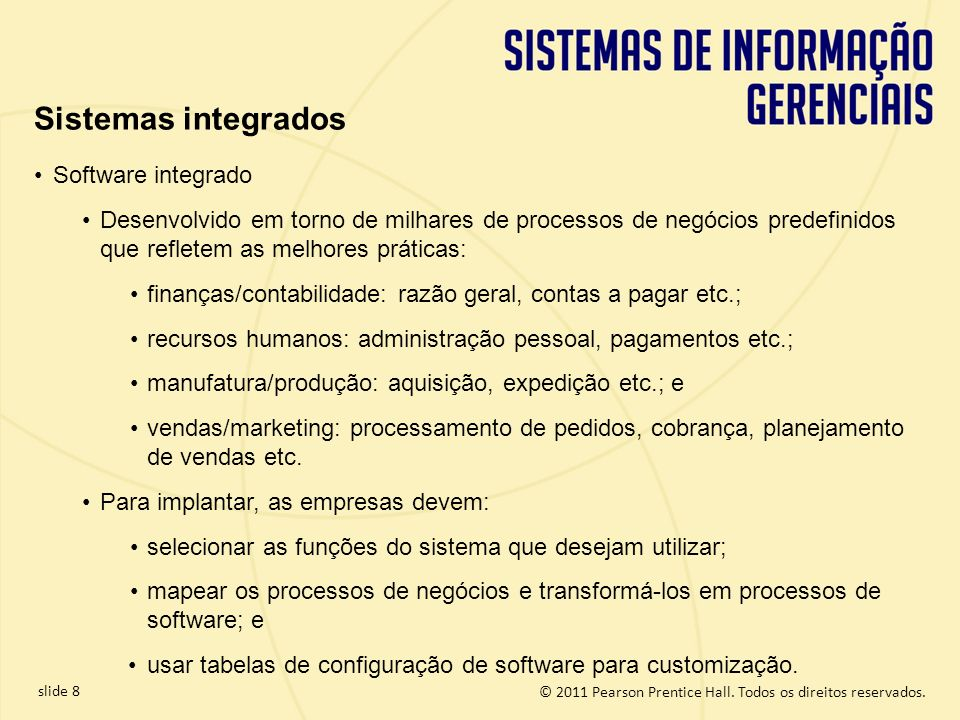 Sistemas integrados Software integrado