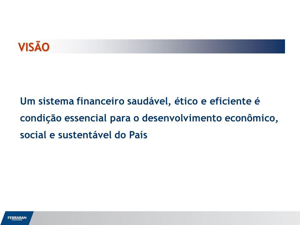 VISÃO Um sistema financeiro saudável, ético e eficiente é condição essencial para o desenvolvimento econômico, social e sustentável do País.
