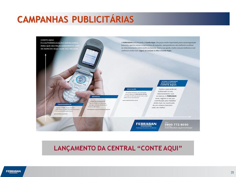 LANÇAMENTO DA CENTRAL CONTE AQUI