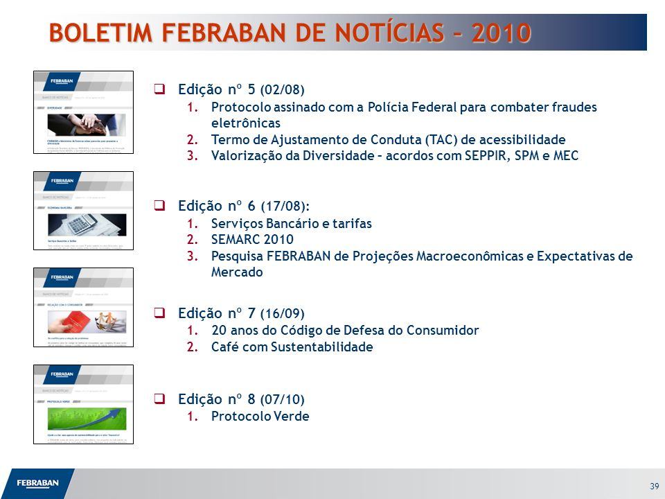 BOLETIM FEBRABAN DE NOTÍCIAS – 2010