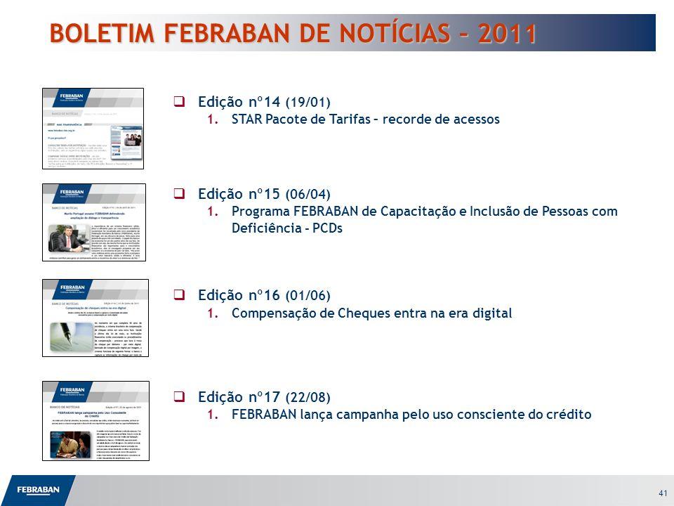 BOLETIM FEBRABAN DE NOTÍCIAS – 2011