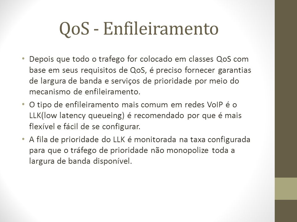 QoS - Enfileiramento