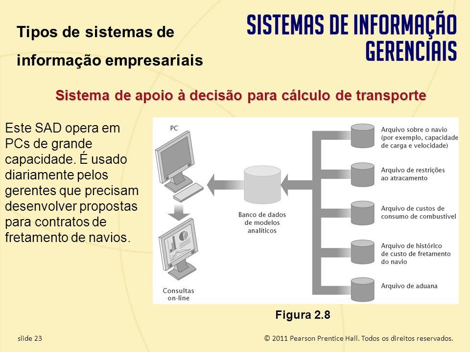 Sistema de apoio à decisão para cálculo de transporte