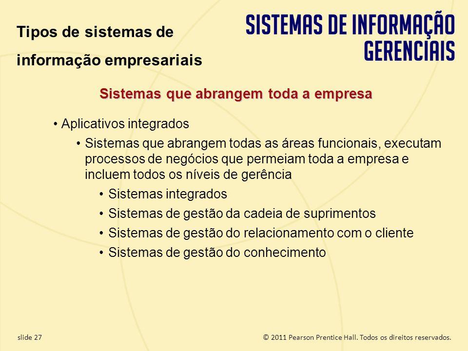 Sistemas que abrangem toda a empresa