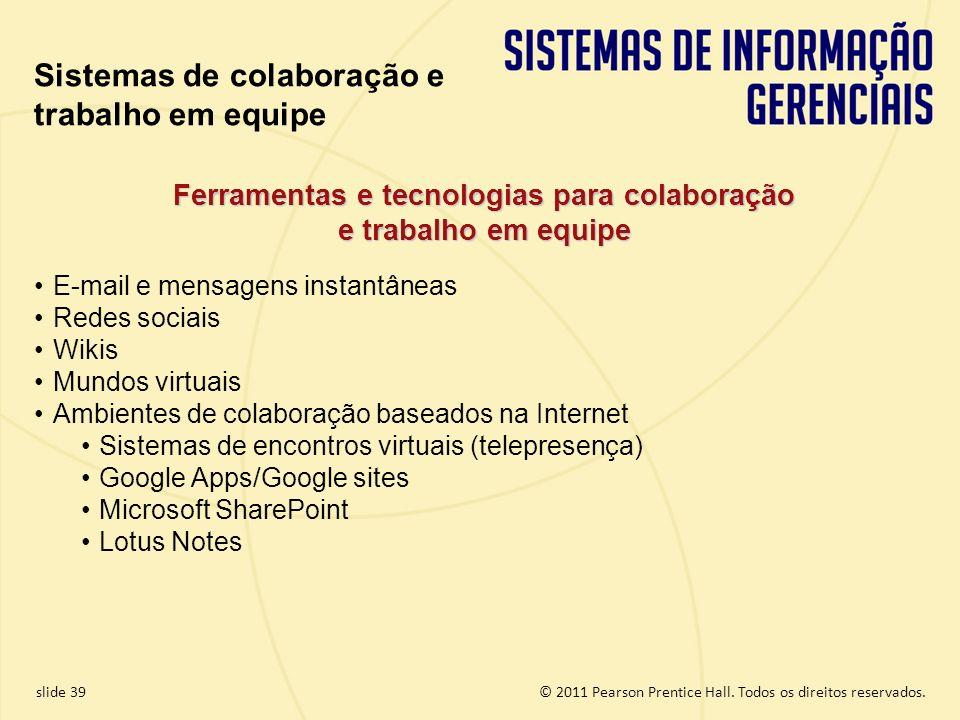 Ferramentas e tecnologias para colaboração