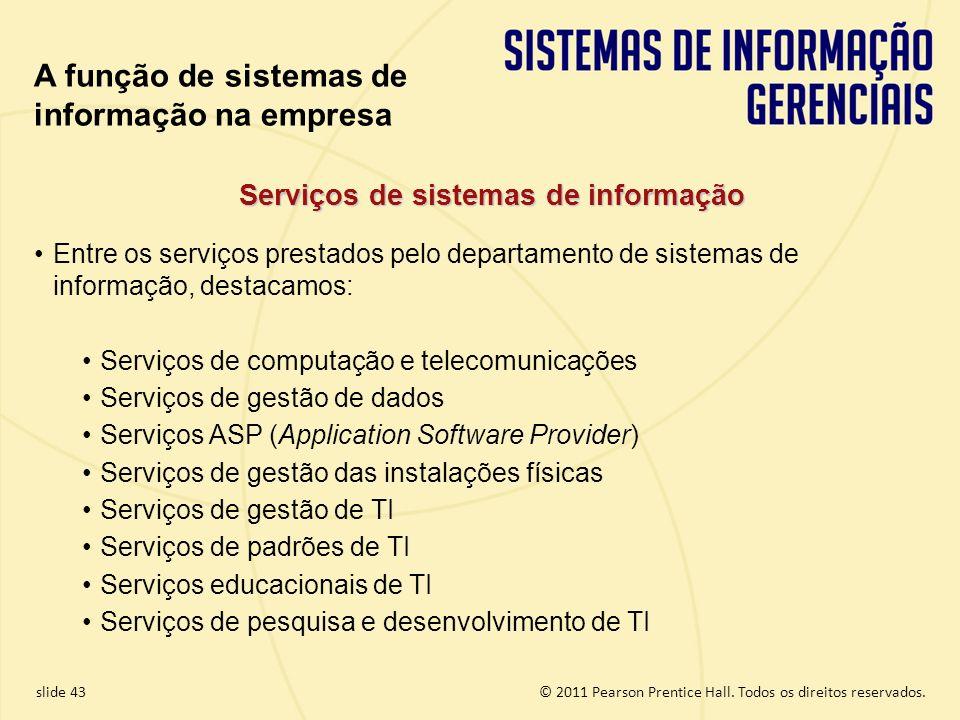 Serviços de sistemas de informação