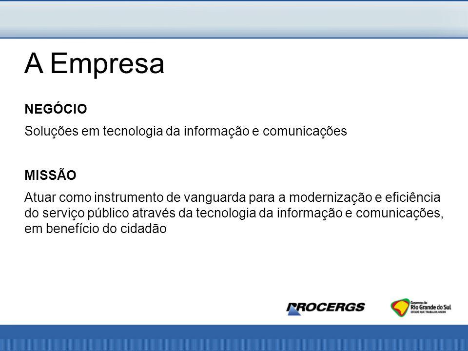 A Empresa NEGÓCIO Soluções em tecnologia da informação e comunicações