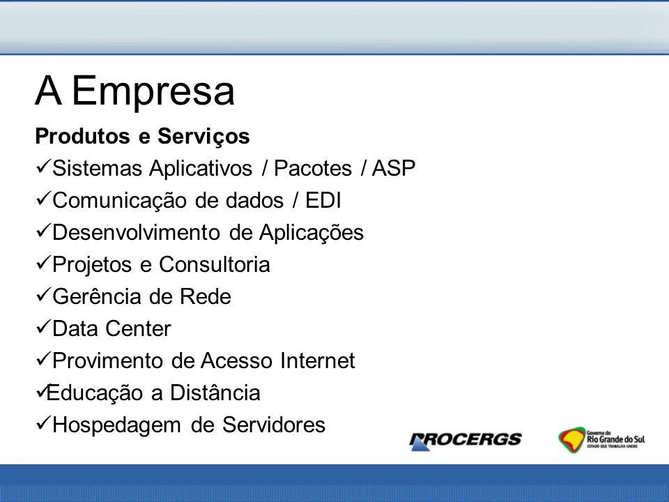 A Empresa Produtos e Serviços Sistemas Aplicativos / Pacotes / ASP