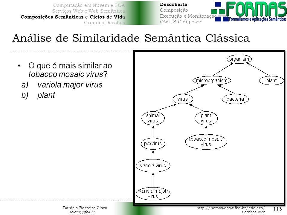 Análise de Similaridade Semântica Clássica