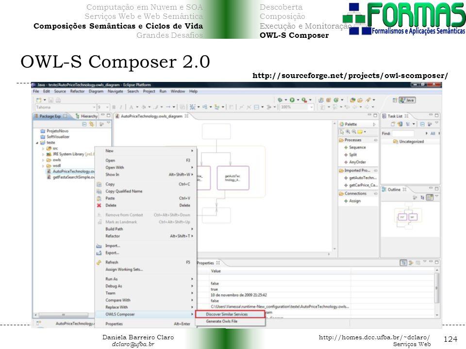 OWL-S Composer 2.0 124 Computação em Nuvem e SOA