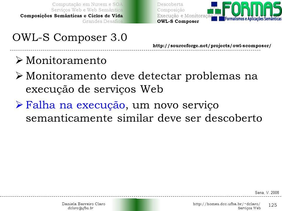 Monitoramento deve detectar problemas na execução de serviços Web