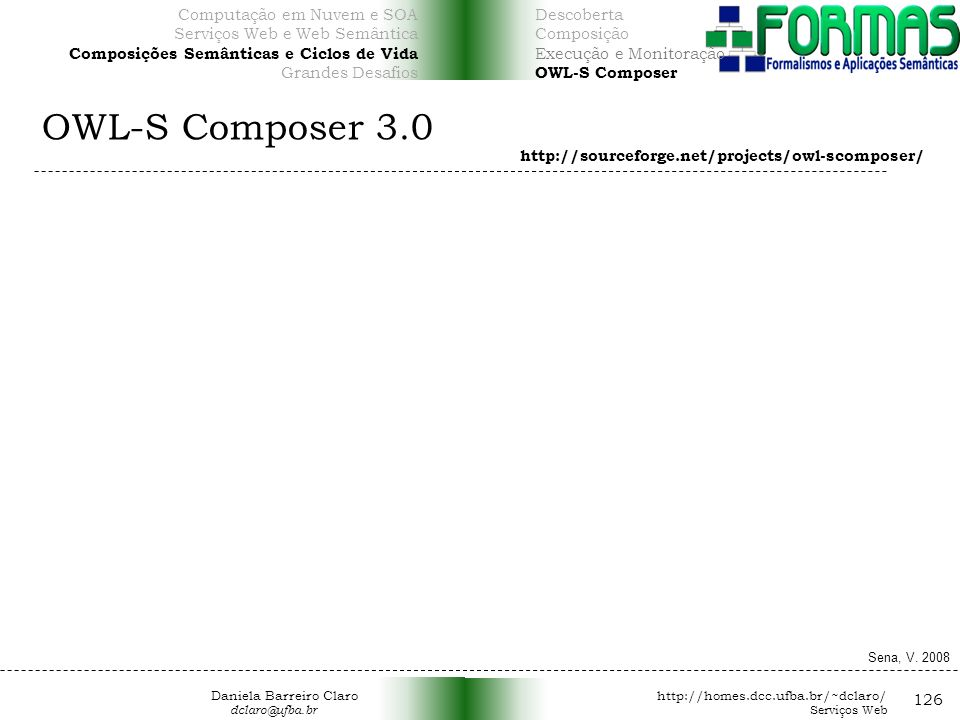 OWL-S Composer 3.0 126 Computação em Nuvem e SOA