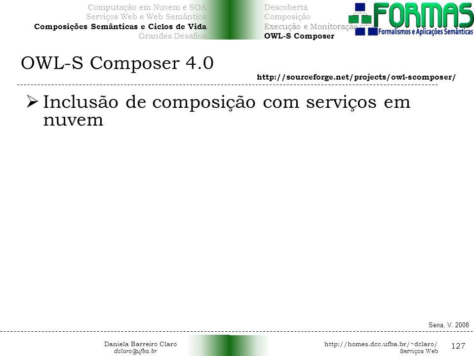 Inclusão de composição com serviços em nuvem
