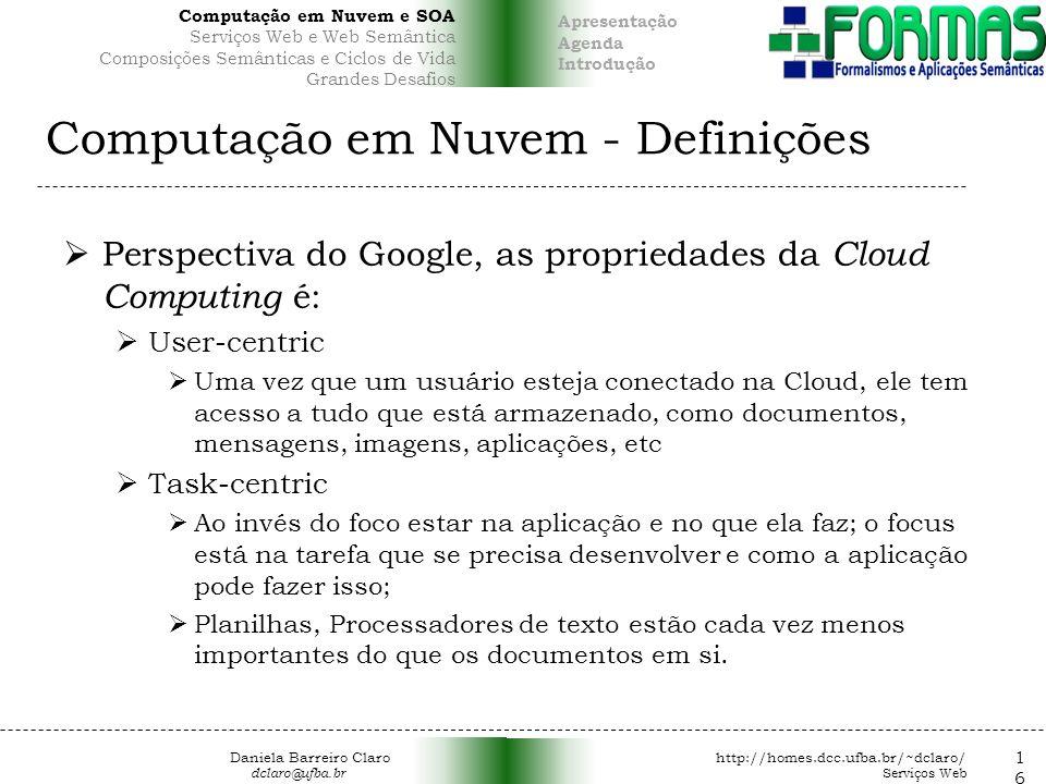 Computação em Nuvem - Definições
