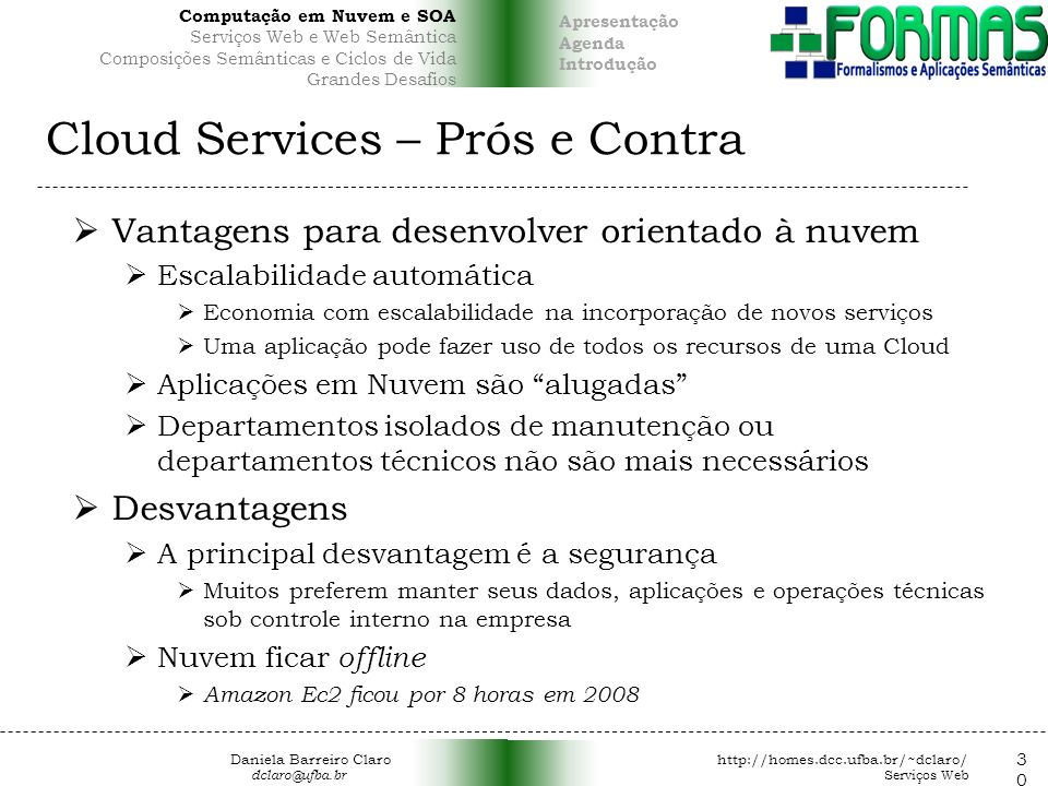 Cloud Services – Prós e Contra