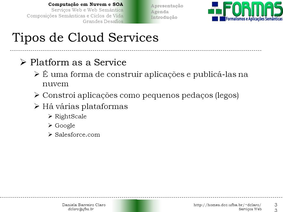 Tipos de Cloud Services
