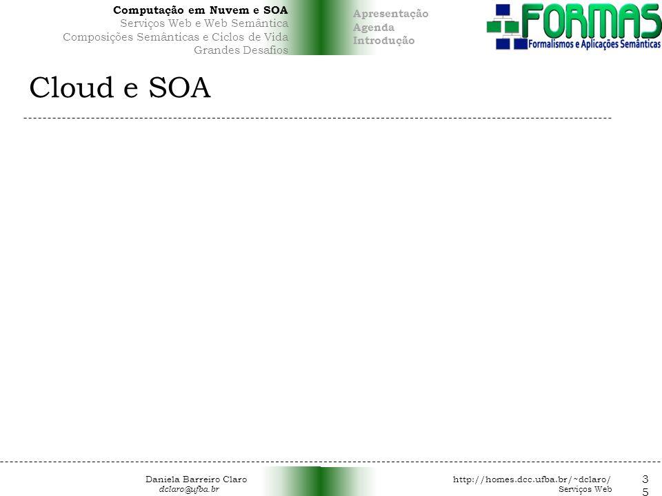 Cloud e SOA 35 Computação em Nuvem e SOA Apresentação