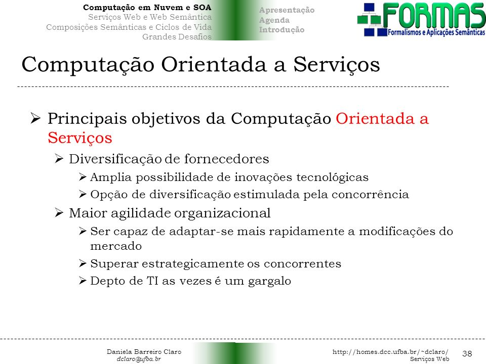 Computação Orientada a Serviços