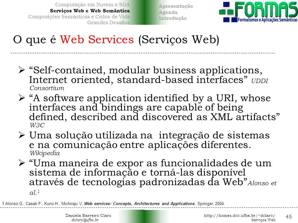 O que é Web Services (Serviços Web)