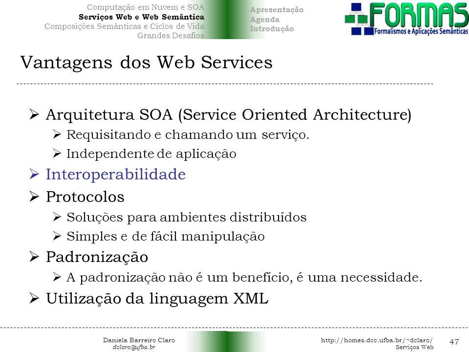 Vantagens dos Web Services