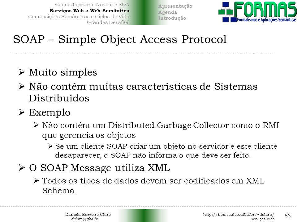 SOAP – Simple Object Access Protocol