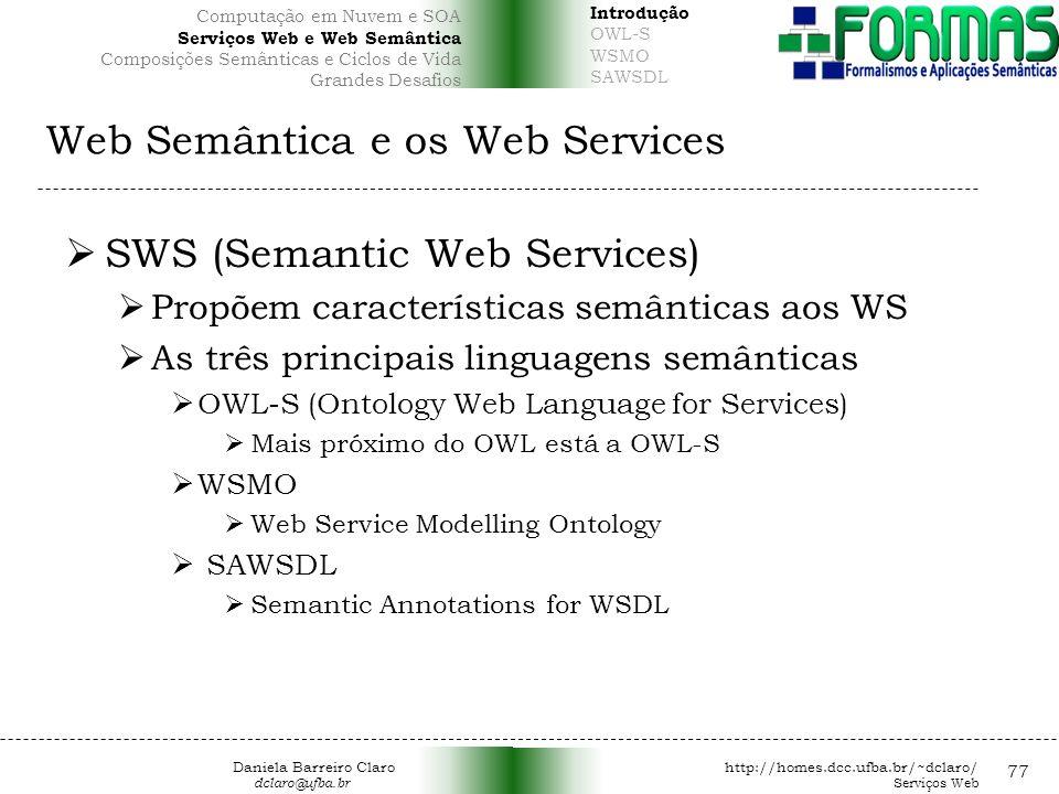 Web Semântica e os Web Services