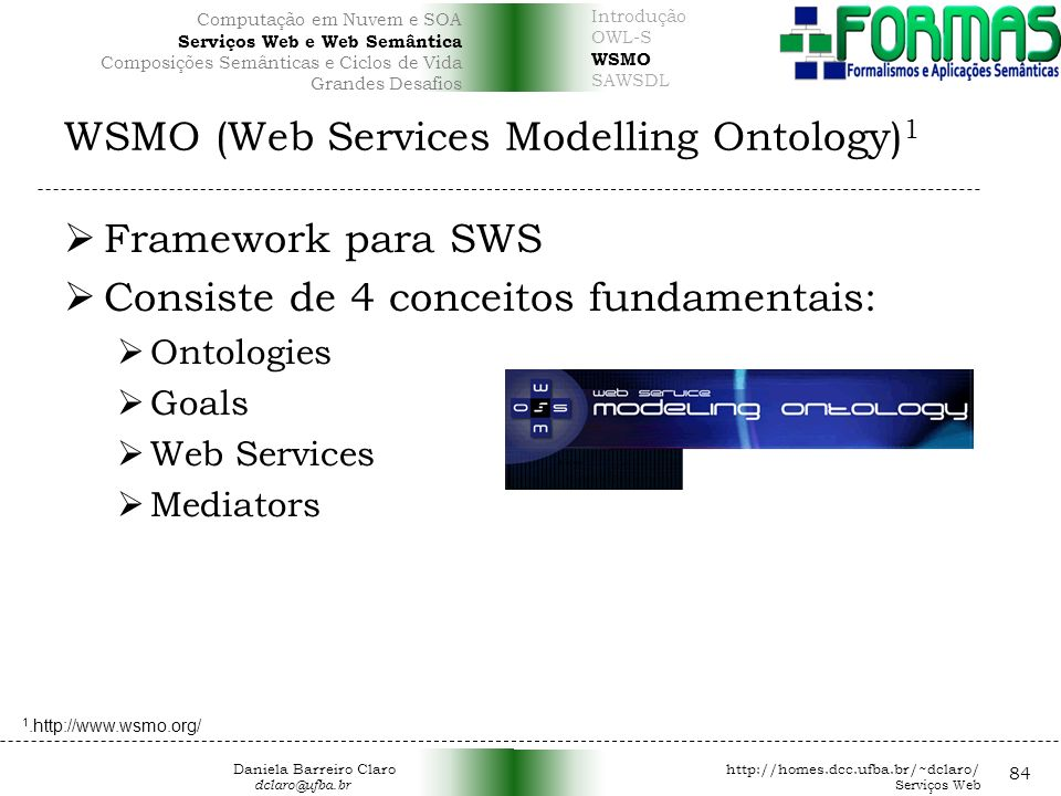 WSMO (Web Services Modelling Ontology)1