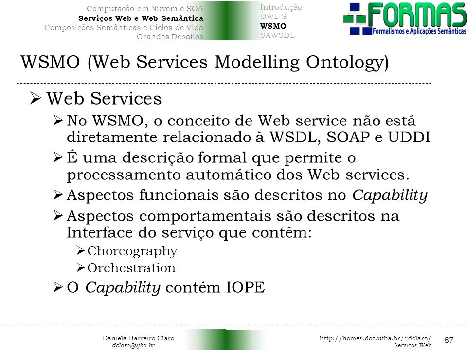 WSMO (Web Services Modelling Ontology)