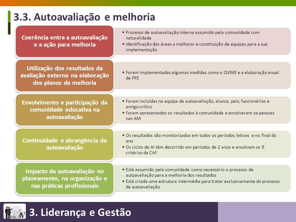 3.3. Autoavaliação e melhoria