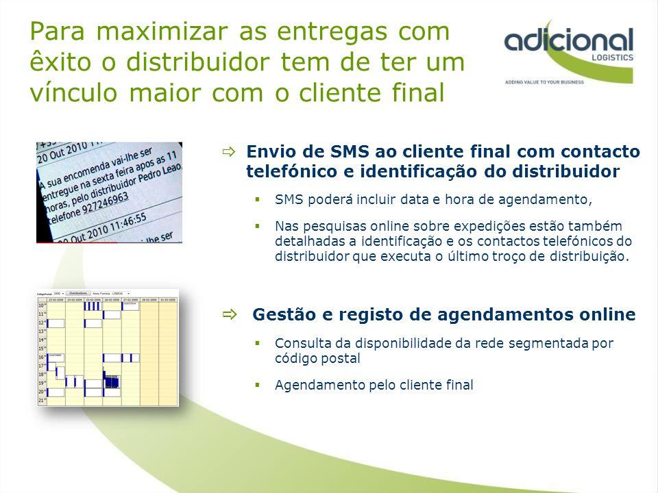 Para maximizar as entregas com êxito o distribuidor tem de ter um vínculo maior com o cliente final
