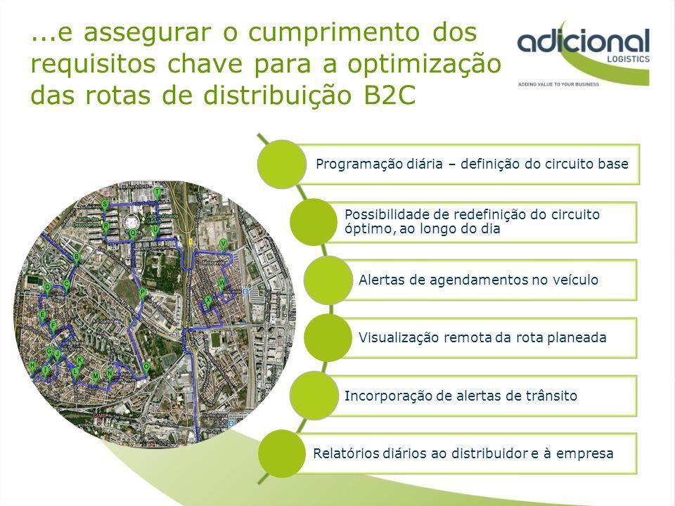 ...e assegurar o cumprimento dos requisitos chave para a optimização das rotas de distribuição B2C