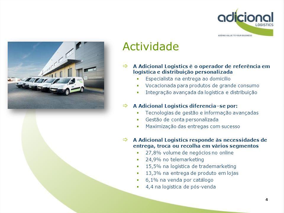 Actividade A Adicional Logistics é o operador de referência em logística e distribuição personalizada.