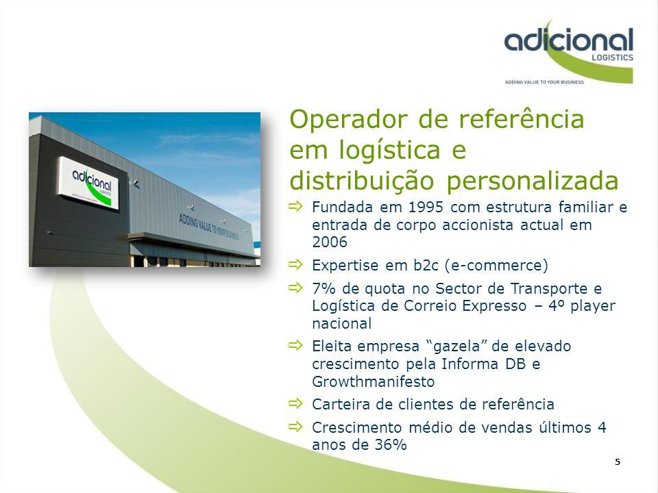 Operador de referência em logística e distribuição personalizada