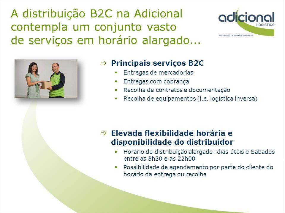 A distribuição B2C na Adicional contempla um conjunto vasto de serviços em horário alargado...