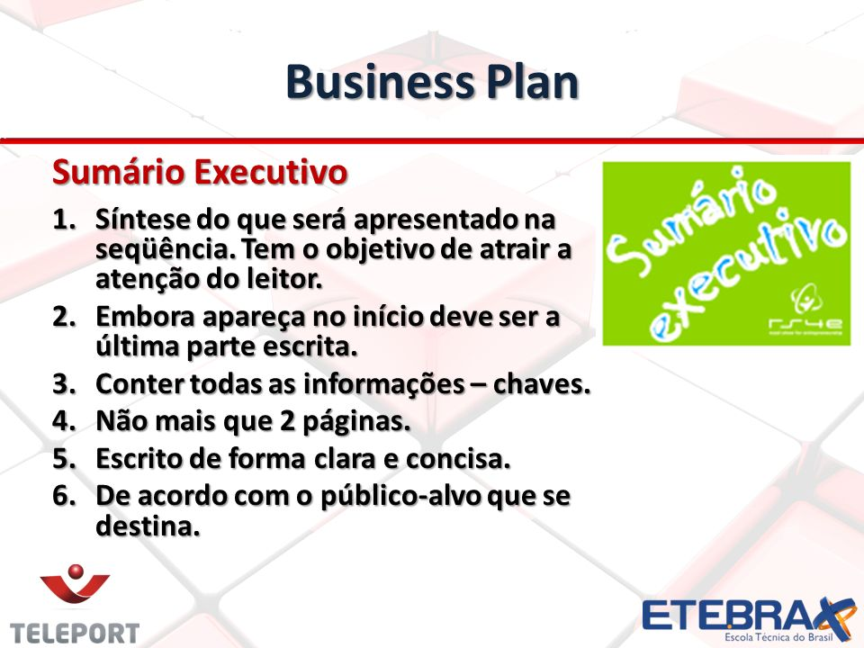 Business Plan Sumário Executivo