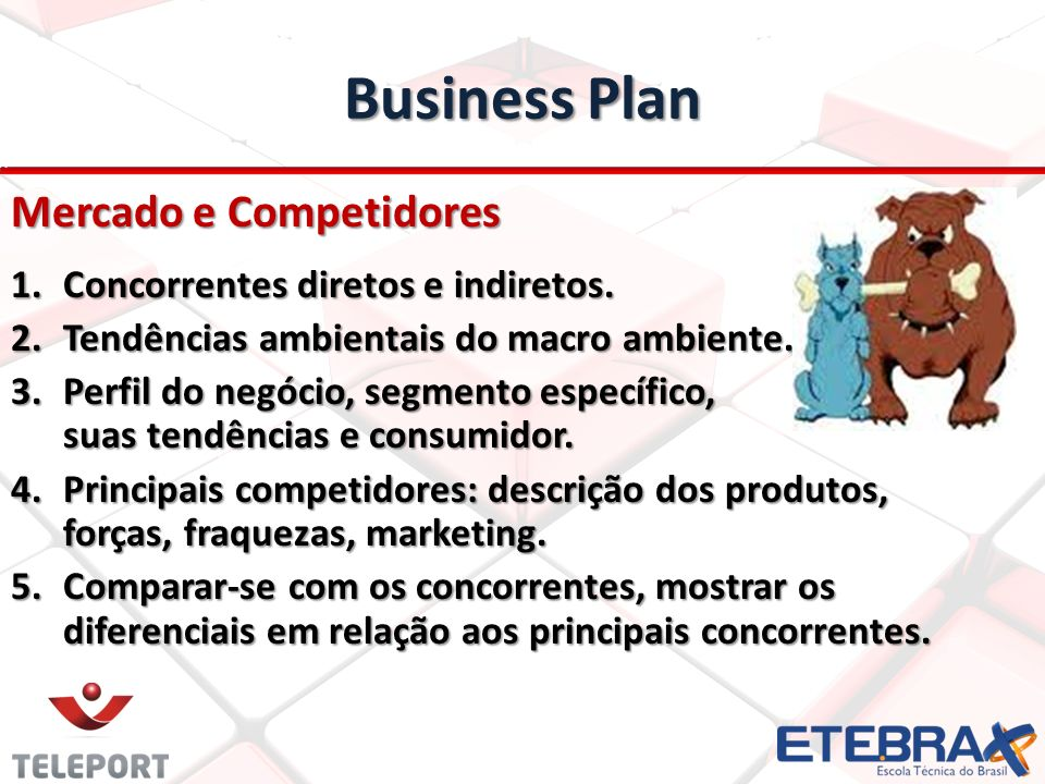 Business Plan Mercado e Competidores Concorrentes diretos e indiretos.