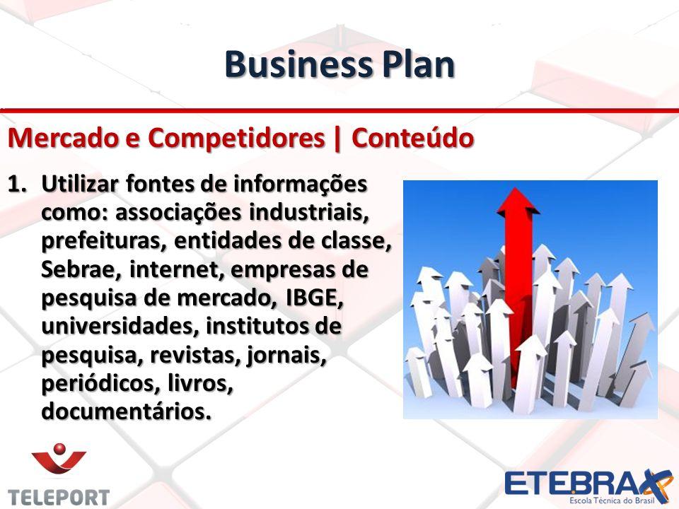 Business Plan Mercado e Competidores | Conteúdo