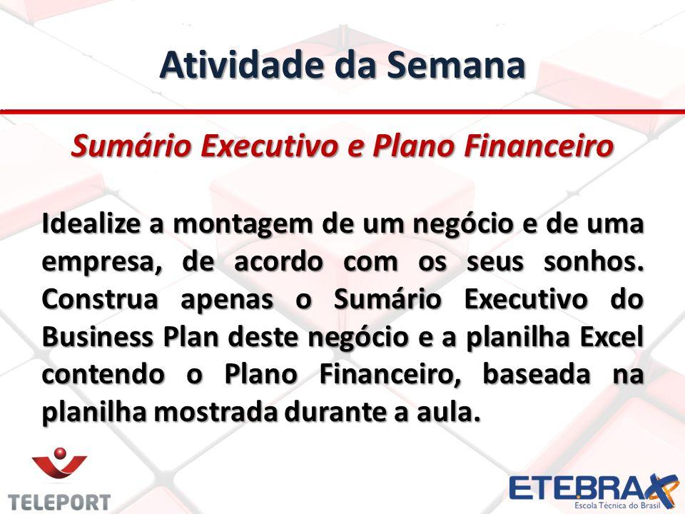 Sumário Executivo e Plano Financeiro