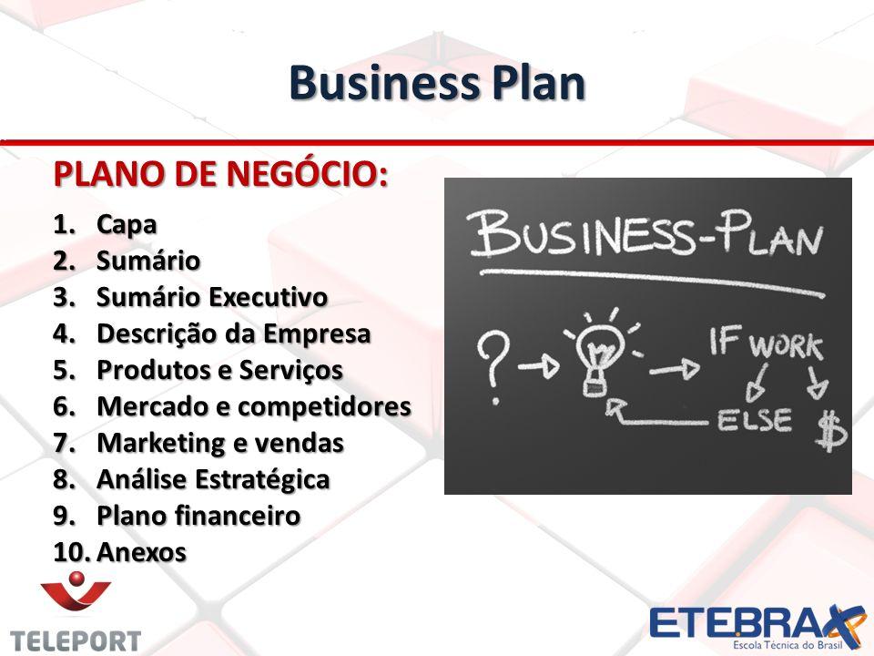 Business Plan PLANO DE NEGÓCIO: Capa Sumário Sumário Executivo