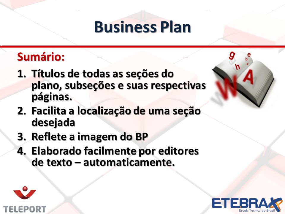 Business Plan Sumário: