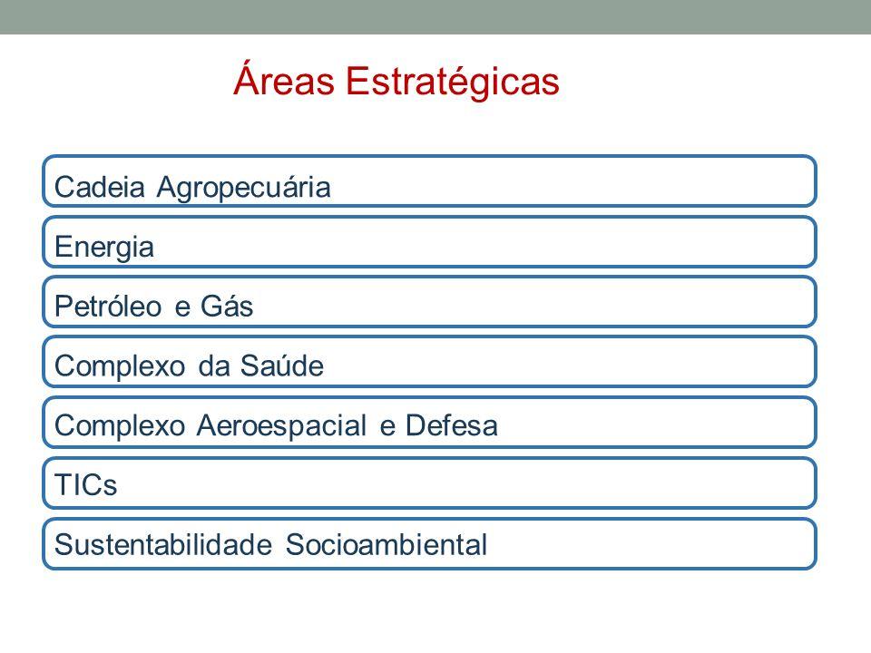 Áreas Estratégicas Cadeia Agropecuária Energia Petróleo e Gás