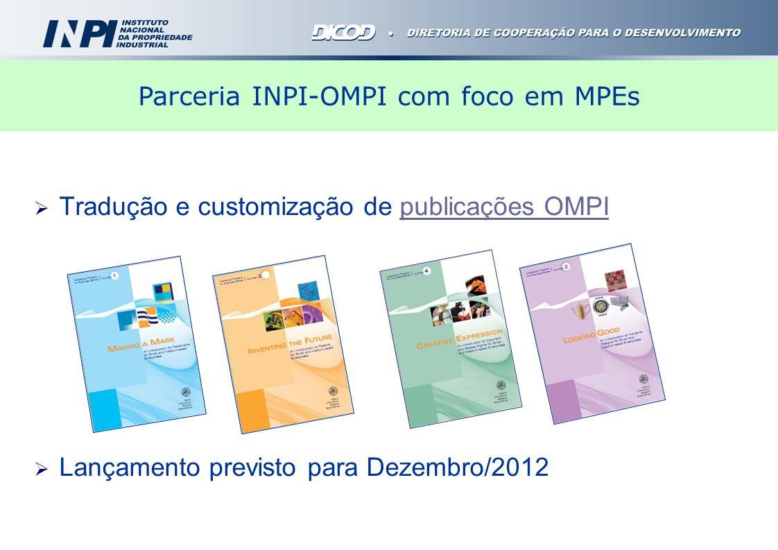 Parceria INPI-OMPI com foco em MPEs