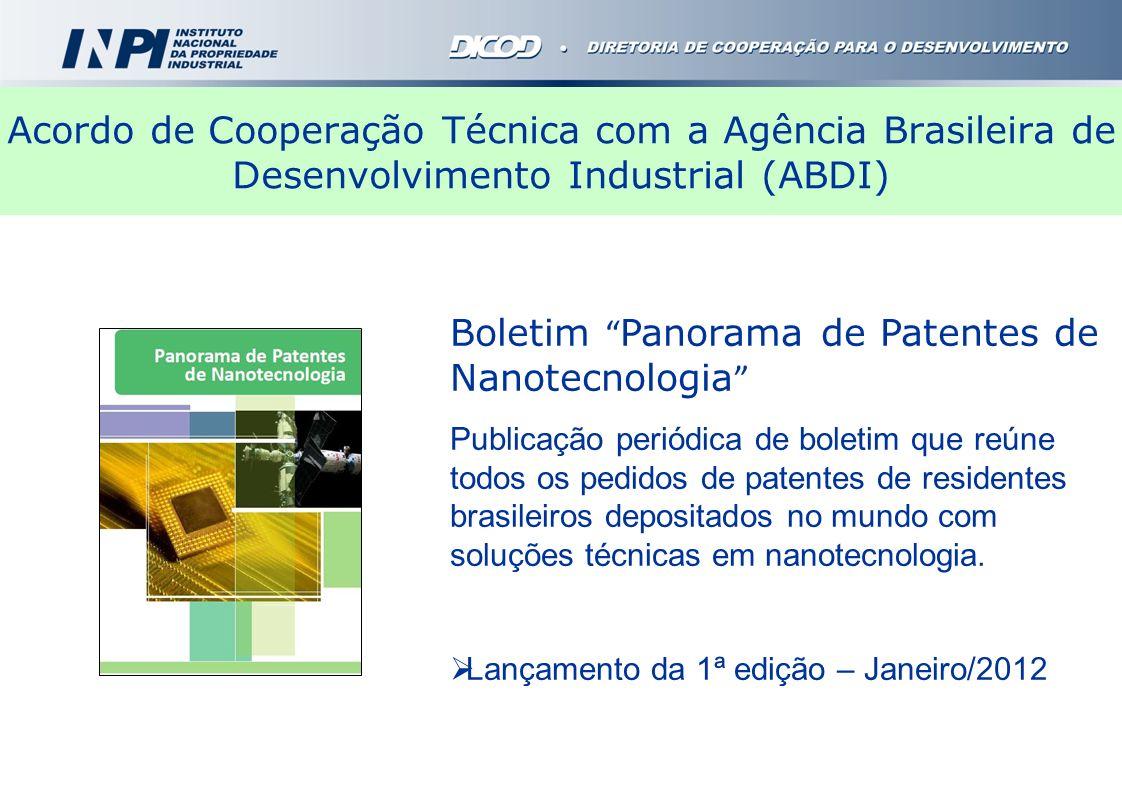Boletim Panorama de Patentes de Nanotecnologia