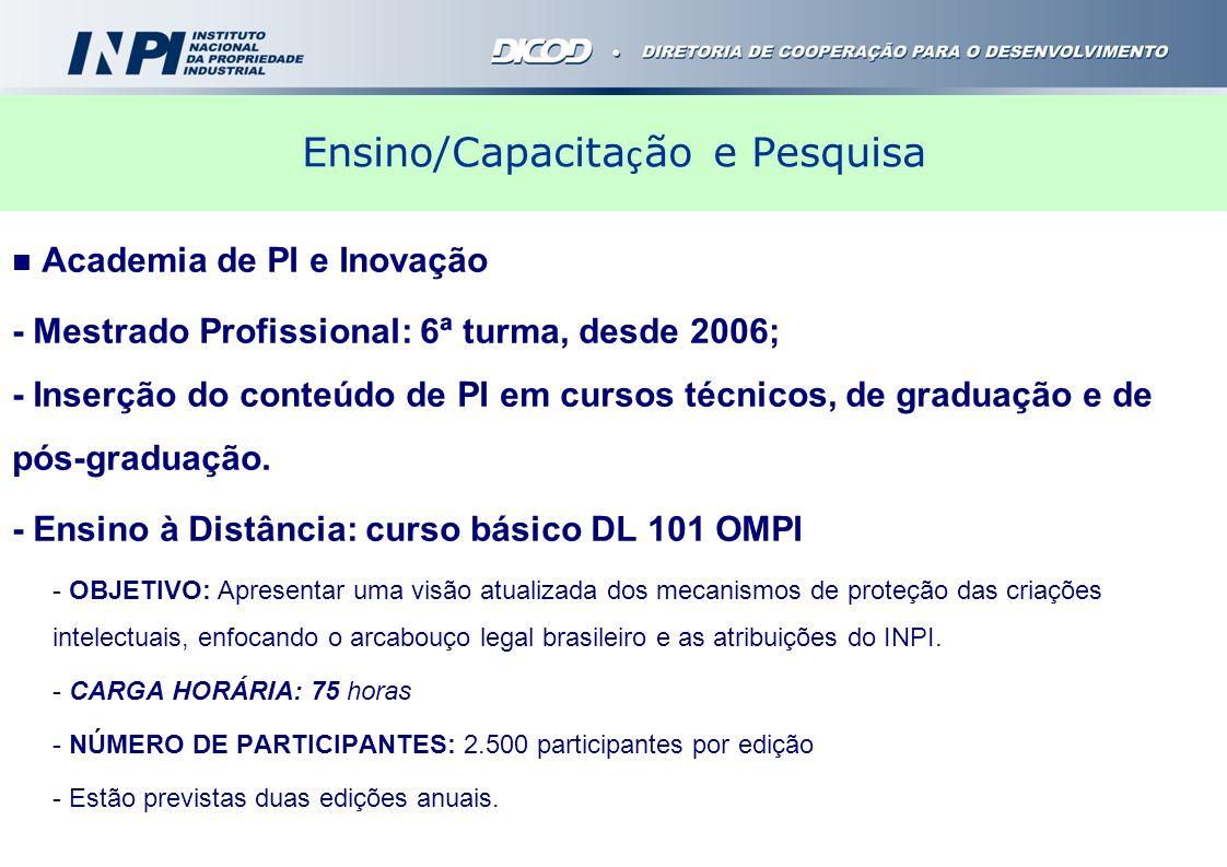 Ensino/Capacitação e Pesquisa