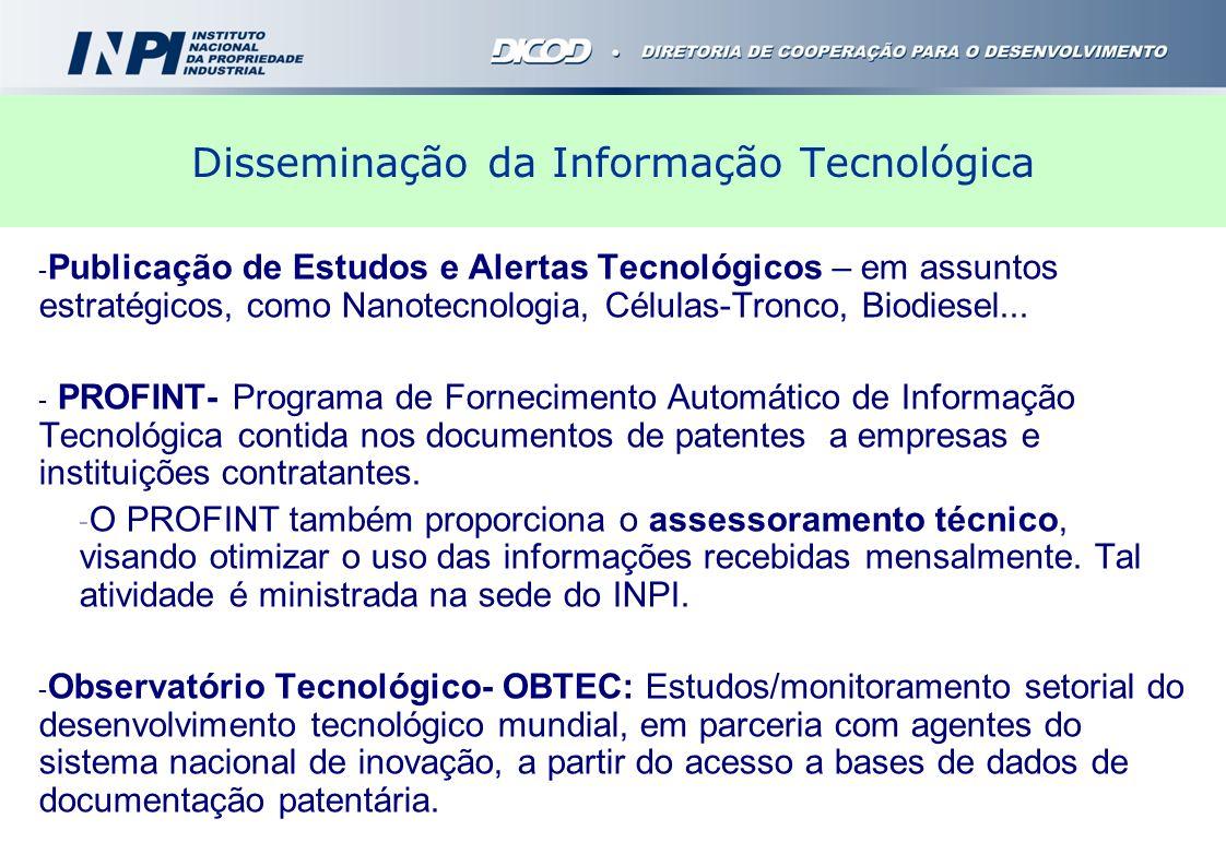Disseminação da Informação Tecnológica