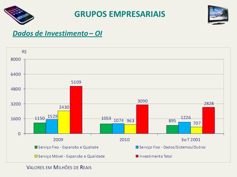 GRUPOS EMPRESARIAIS Dados de Investimento – OI