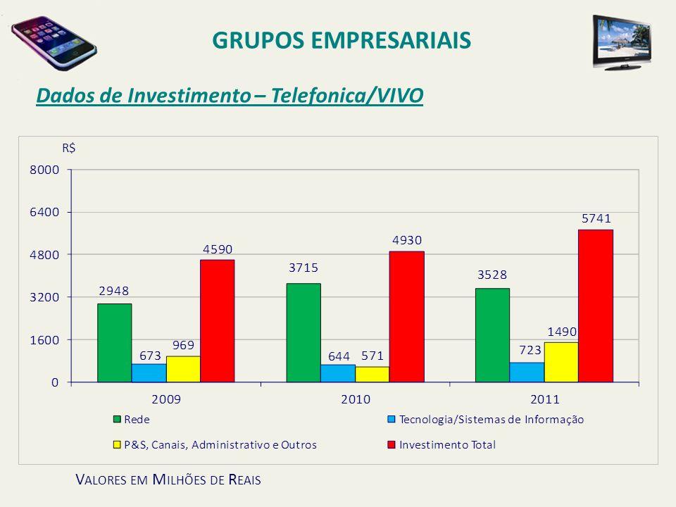 GRUPOS EMPRESARIAIS Dados de Investimento – Telefonica/VIVO